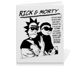 "Тетрадь на клею ""Rick and Morty"" - прикольные, sonic youth, группы, rick and morty, рик и морти"