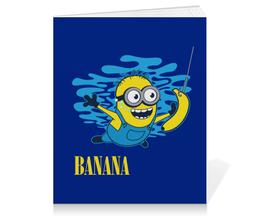 """Тетрадь на клею """"Banana. Миньоны"""" - nirvana, миньоны, миньон, minions, банана"""