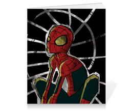 "Тетрадь на клею ""Человек-паук (Spider-man)"" - комиксы, spider man, марвел, питер паркер"