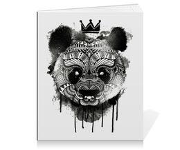 "Тетрадь на клею ""Панда"" - арт, панда"