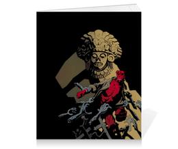 """Тетрадь на клею """"Хеллбой"""" - хеллбой, комиксы, демон, hellboy, dark horse comics"""