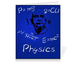 """Тетрадь на клею """"Физика"""" - физика, эйнштейн"""