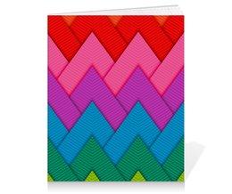 """Тетрадь на клею """"Papercraft style"""" - полосы, абстракция, геометрия, линии, papercraft"""