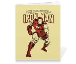 """Тетрадь на клею """"Железный челове"""" - комиксы, супергерои, мстители, железный человек, iron man"""