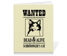 """Тетрадь на клею """"Кот Шрёдингера"""" - прикольные, коты, наука, кот шрёдингера"""
