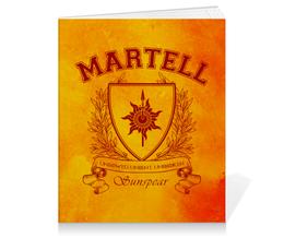"""Тетрадь на клею """"Игра Престолов. Дом Мартеллов"""" - игра престолов, game of thrones, дом мартеллов, house martell, мартеллы"""