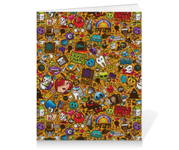 "Тетрадь на клею ""Stickers"" - арт, style, стиль, дизайн, графика"
