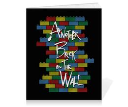 "Тетрадь на клею ""Another Brick in the Wall"" - арт, прикольные, пинк флойд, pink floyd, лего"