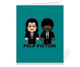 """Тетрадь на клею """"Pulp Fiction"""" - тарантино, криминальное чтиво, джон траволта, сэмюэл лерой джексон, культовое кино"""