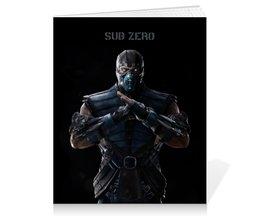 "Тетрадь на клею ""Mortal Kombat X (Sub-Zero)"" - воин, mortal kombat, компьютерная игра, драка, sub-zero"