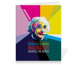 """Тетрадь на клею """"Альберт Эйнштейн"""" - арт, наука, личности, эйнштейн, учёные"""