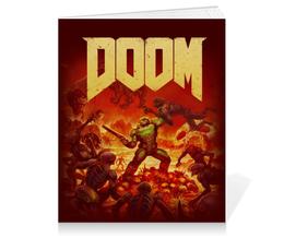 """Тетрадь на клею """"Doom """" - игры, doom, дум, геймерские, для геймеров"""