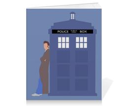 "Тетрадь на клею ""10й Доктор у ТАРДИС"" - doctor who, tardis, доктор кто, тардис, дэвид теннант"