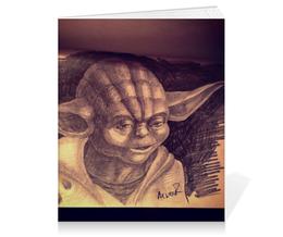 """Тетрадь на клею """"Мастер Йода"""" - арт, рисунок, звездные войны, йода, джедай"""