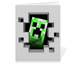 "Тетрадь на клею ""Крипер. Майнкрафт"" - игры, minecraft, майнкрафт, крипер, геймерские"