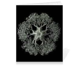 """Тетрадь на клею """"Ophiodea Эрнста Геккеля"""" - картина, черно-белый, биология, красота форм в природе, эрнст геккель"""