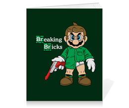 "Тетрадь на клею ""Марио Хайзенберг"" - во все тяжкие, breaking bad, heisenberg, супер марио, super mario bros"
