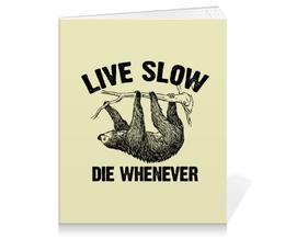 """Тетрадь на клею """"Ленивец"""" - ленивый, лень, ленивец, для ленивых, sloth"""