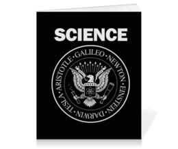 "Тетрадь на клею ""Наука"" - geek, science, наука, ученый, ramones"