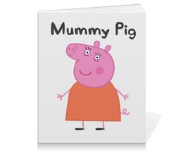 """Тетрадь на клею """"Mummy pig"""" - свинка пеппа, peppa pig"""