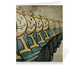 """Тетрадь на клею """"Fallout """" - постапокалипсис, vault boy, убежище, вольт бой"""