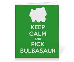 "Тетрадь на клею ""Бульбазавр"" - нинтендо, nintendo, bulbasaur, pokemon go, покемон го"