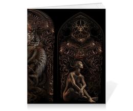 "Тетрадь на клею ""Meshuggah"" - рок, змеи, металл, meshuggah, мешуга"