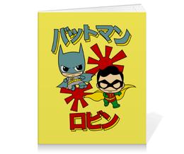 """Тетрадь на клею """"Бэтмен и Робин"""" - комиксы, batman, супергерои, бэтмен, бэтмен и робин"""