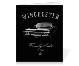 """Тетрадь на клею """"Winchester Family Auto"""" - supernatural, сверхъестественное, винчестер, сэм и дин, chevrolet impala"""