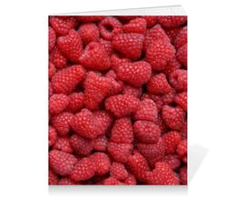 """Тетрадь на клею """"Малина"""" - ягоды, малина, raspberry"""