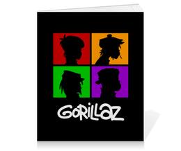 """Тетрадь на клею """"Gorillaz"""" - gorillaz, гориллаз, музыка, группы"""