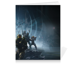 """Тетрадь на клею """"Halo """" - игры, halo, хало, guardians"""