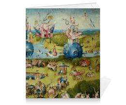 """Тетрадь на клею """"Сад земных наслаждений"""" - картина, сад, искусство, босх"""