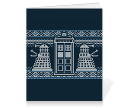 "Тетрадь на клею ""Доктор Кто"" - орнамент, doctor who, tardis, доктор кто, далек"