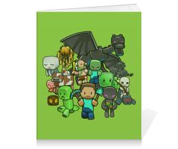 "Тетрадь на клею ""Майнкрафт"" - игры, minecraft, майнкрафт, геймерские"