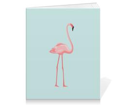 """Тетрадь на клею """"Розовый полет"""" - голубой, розовый, фламинго"""