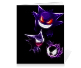 "Тетрадь на клею ""Эволюция Гастли"" - pokemon go, покемон го, gastly, генгар, хонтер"