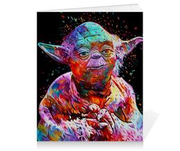 "Тетрадь на клею ""Darth Vader & Yoda"" - star wars, yoda, darth vader, звездные войны, йода"