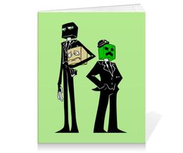 "Тетрадь на клею ""Крипер и Эндермен. Майнкрафт"" - игры, minecraft, майнкрафт, геймерские, крипер и эндермен"