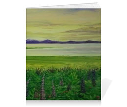 "Тетрадь на клею ""Прованс"" - цветы, природа, луга, лаванда, прованс"