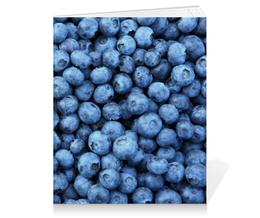 """Тетрадь на клею """"Черника"""" - ягоды, черника, blueberry"""