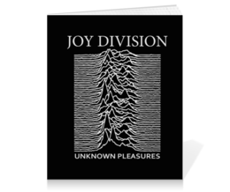 "Тетрадь на клею ""Joy Division"" - joy division, unknown pleasures, группы, ian curtis, пост-панк"