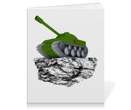 """Тетрадь на клею """"С 23 февраля!"""" - 23 февраля, день защитника отечества, танк, февраль, прадник"""