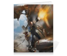 "Тетрадь на клею ""Fallout 4"" - постапокалипсис, стимпанк, фоллаут, убежище, овчарка"