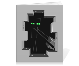 "Тетрадь на клею ""Эндермен. Майнкрафт"" - игры, minecraft, майнкрафт, геймерские, эндермен"
