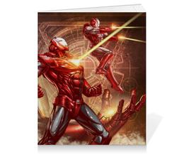 "Тетрадь на клею ""Железный человек"" - комиксы, марвел, iron man, tony stark, тони старк"