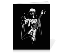 "Тетрадь на клею ""Darth Rock"" - heavy metal, star wars, darth vader, звездные войны, дарт вейдер"