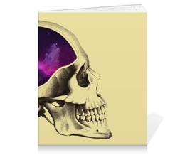 """Тетрадь на клею """"Вселенная"""" - череп, арт, космос, вселенная"""