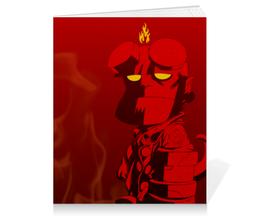 """Тетрадь на клею """"Хеллбой"""" - комиксы, демон, hellboy, хеллбой, dark horse comics"""