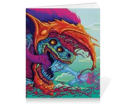 "Тетрадь на клею ""Hyper Beast"" - монстр, клыки, яд, токсичность, hyper beast"